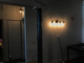 rustic apartment interior lighting