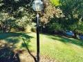 residential lamp post installation