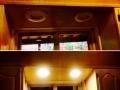 recessed lighting above sink