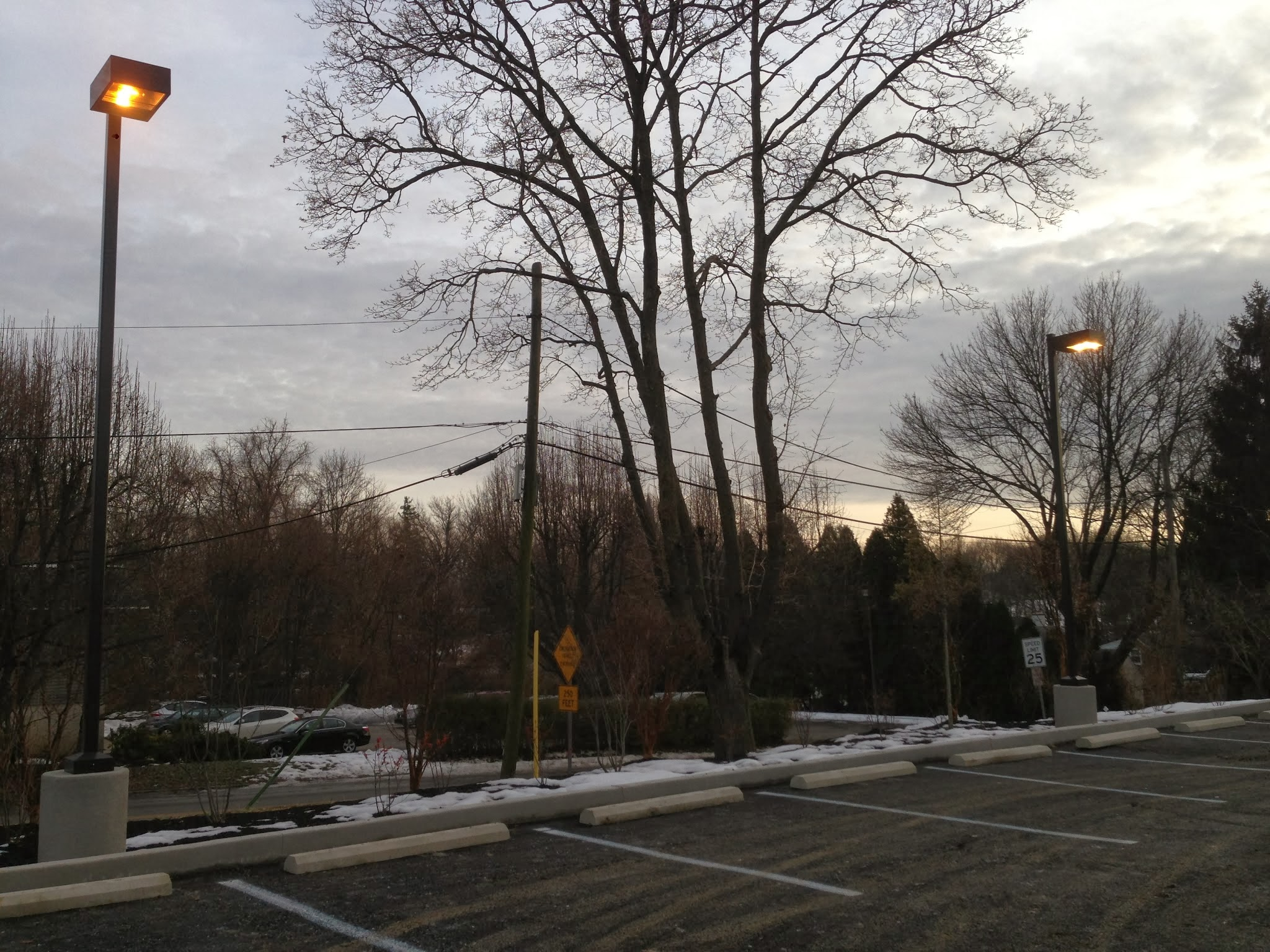 parking lot lights - bucket truck services