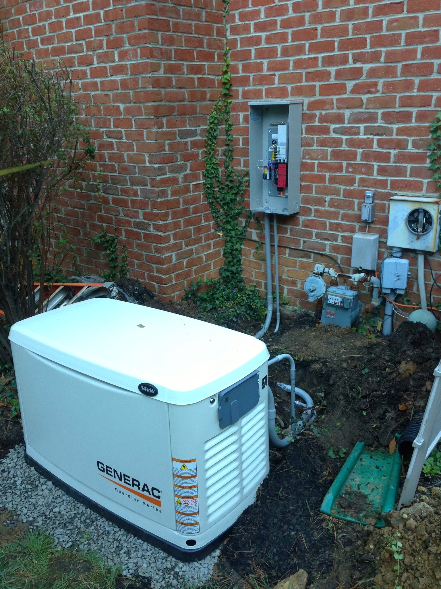 commercial generator installation - standby
