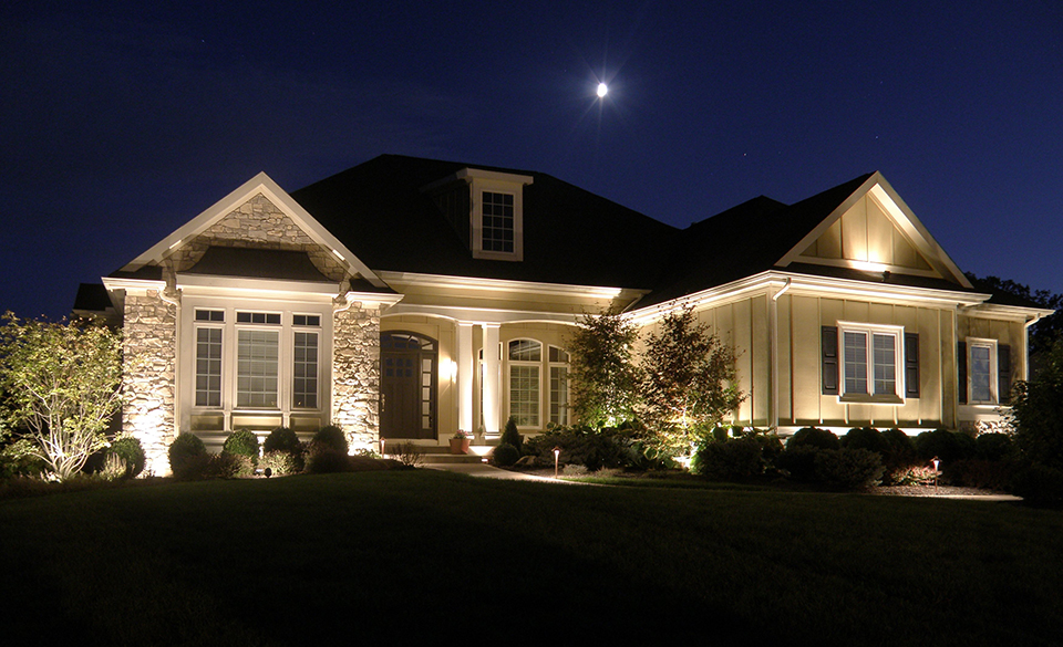 landscape lighting facade lighting