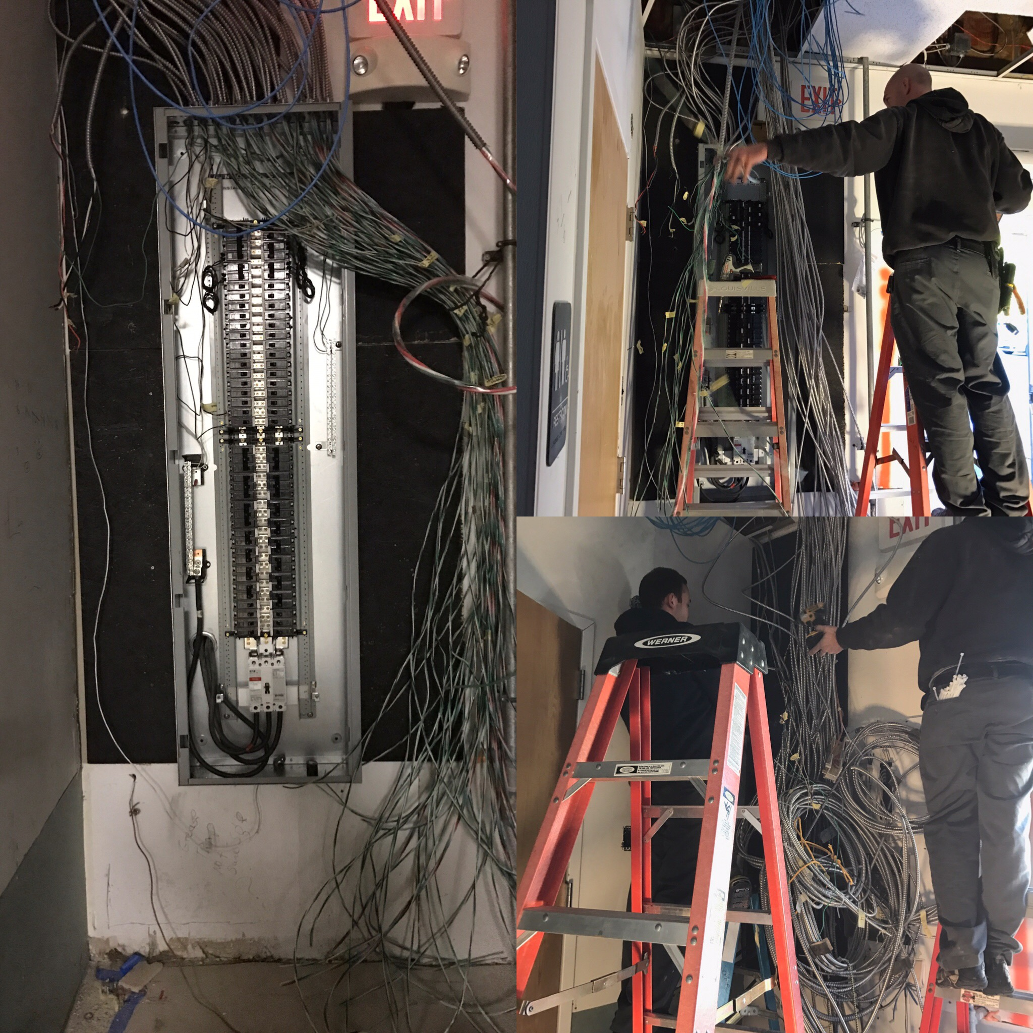 property management electrician - service panel installation