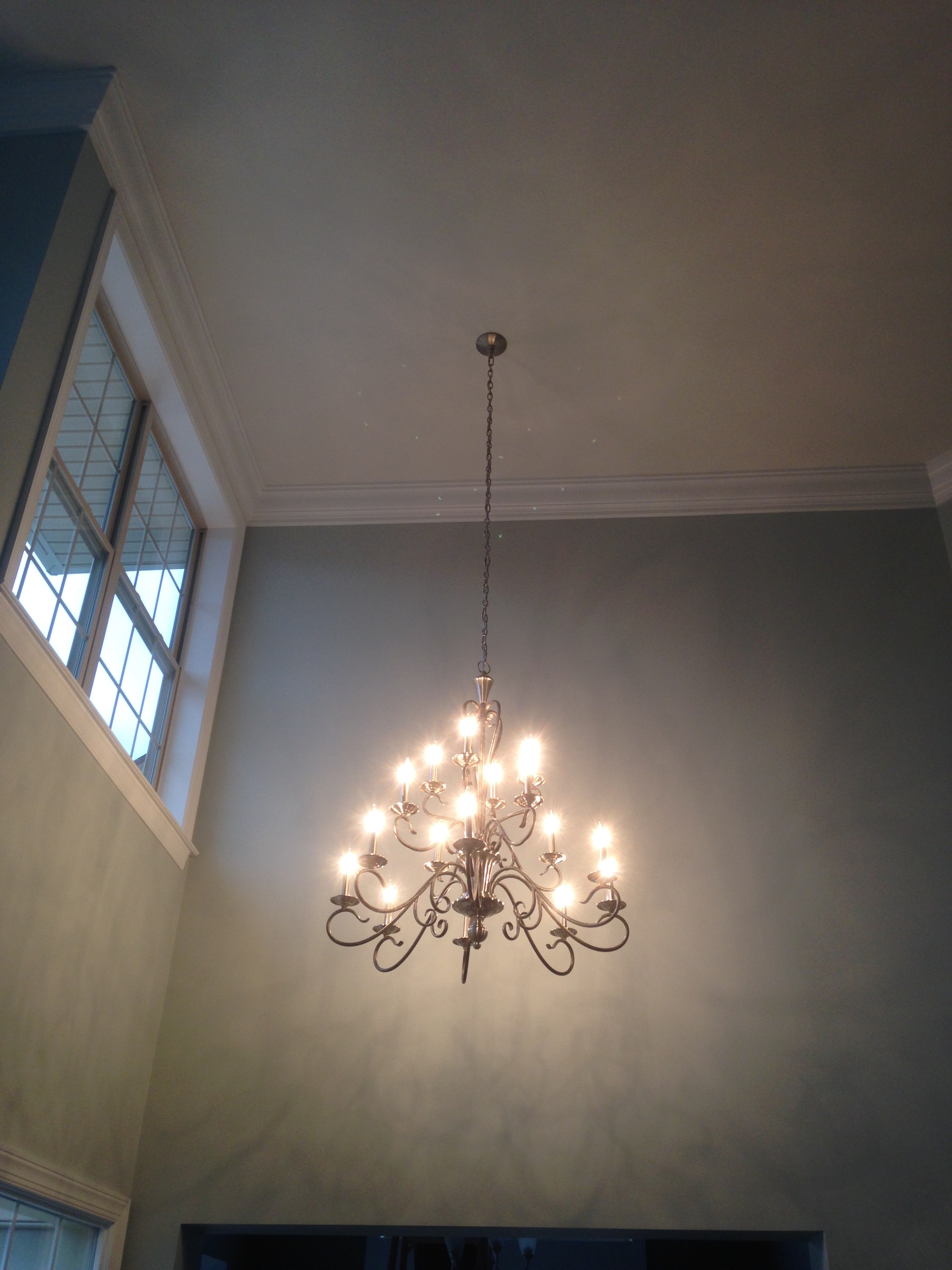 chandelier installation