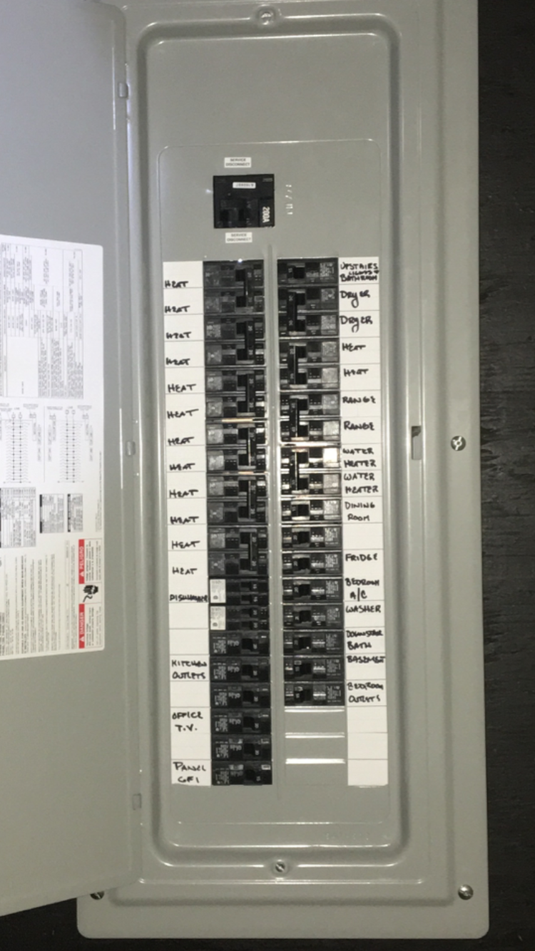 labeling your electrical panel