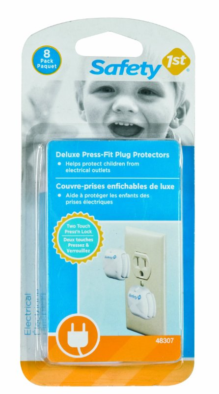 baby proofing electrical outlets - press fit plugs