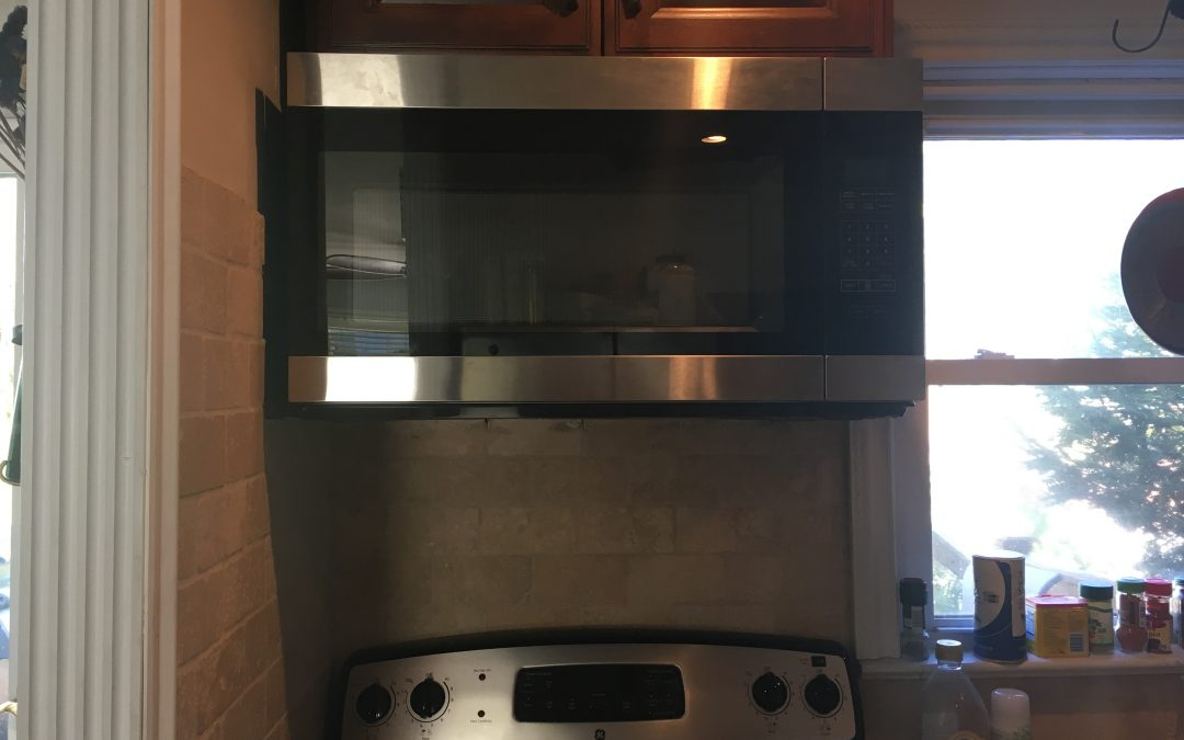 Over The Range Microwave Installation: Montgomery County, PA Electrician