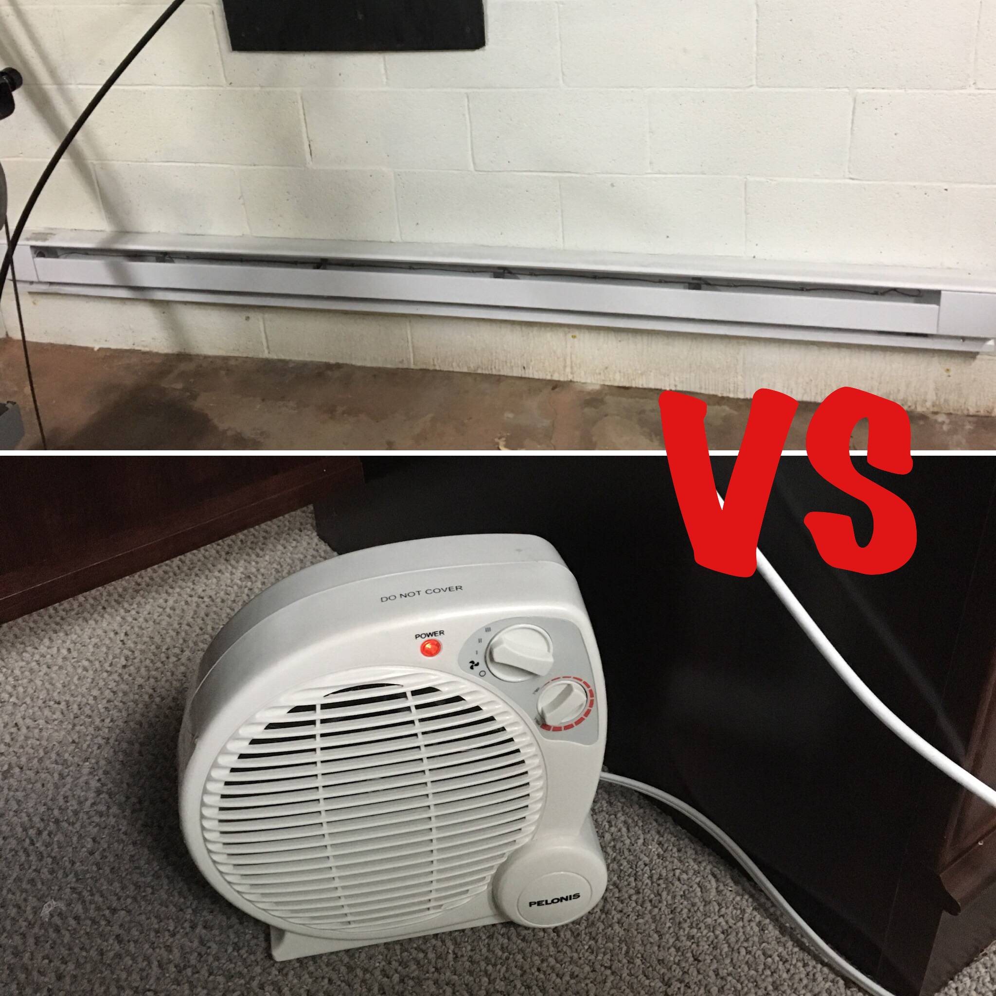 electric baseboard heaters vs space heaters