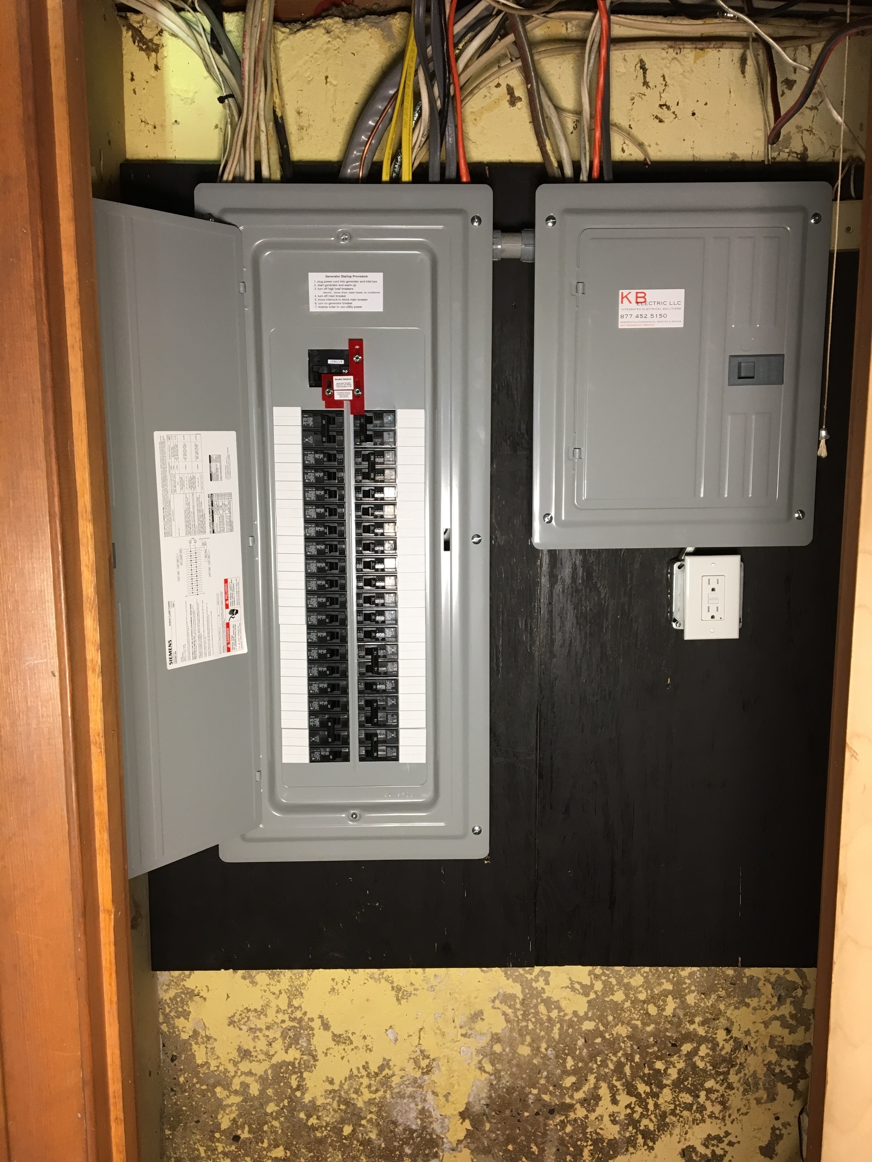 Gallery View Our Work Wiring Generator Power Inlet Box 200amp Service Panel