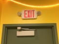 exit sign install