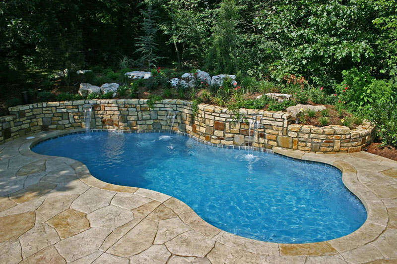 Charming Extravagant Inground Swimming Pool Kits Artistic Natural Atmosphere Design