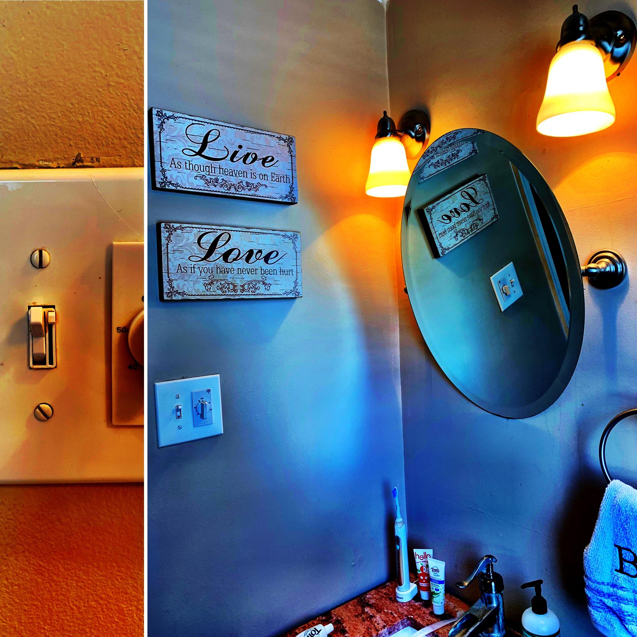 bathroom dimmer switch